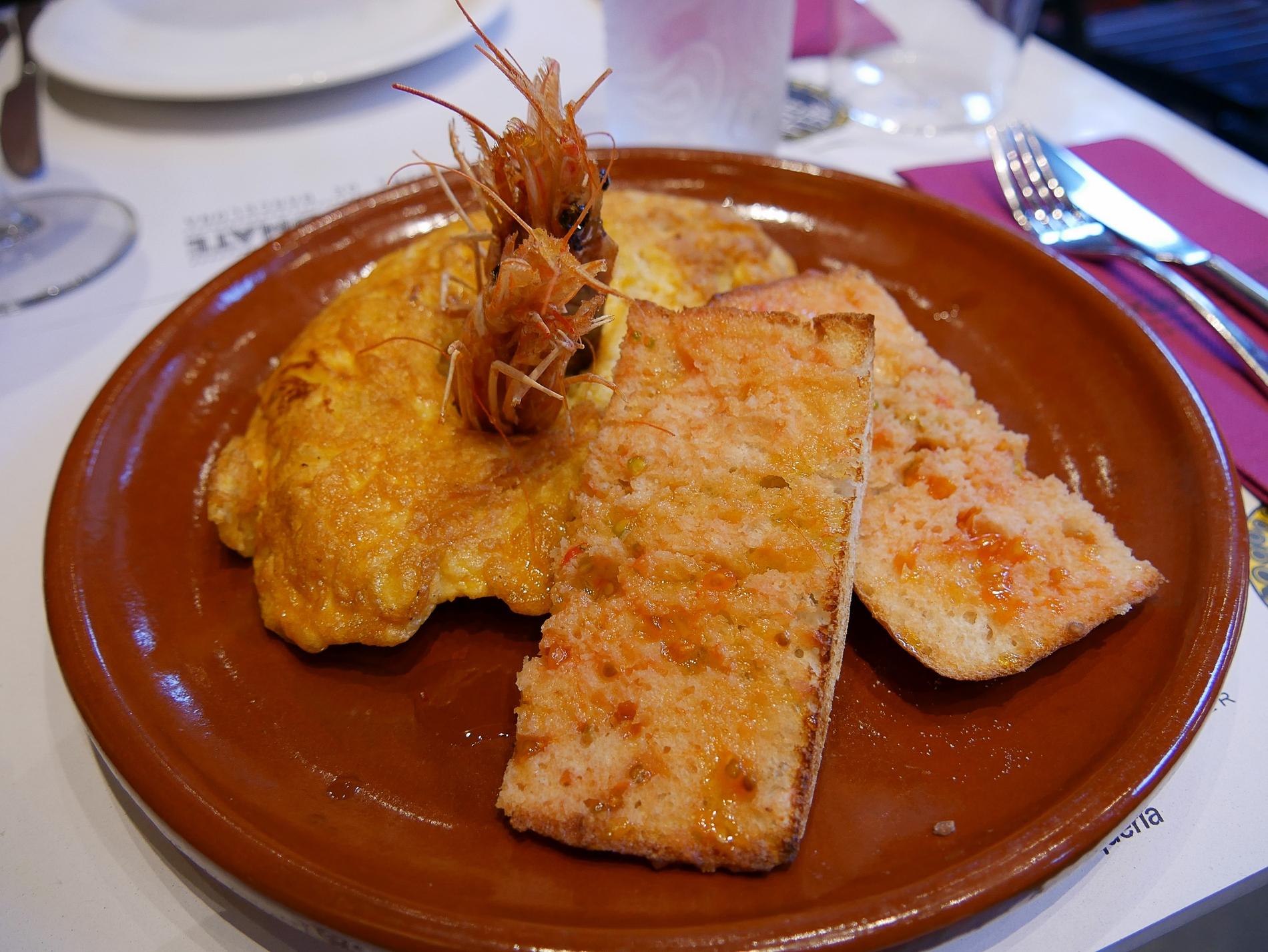 voyage découverte à barcelone - crevettes
