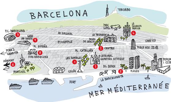 Carte De Barcelone Et Ses Environs.A La Decouverte De Barcelone Julie S Liberties 2018