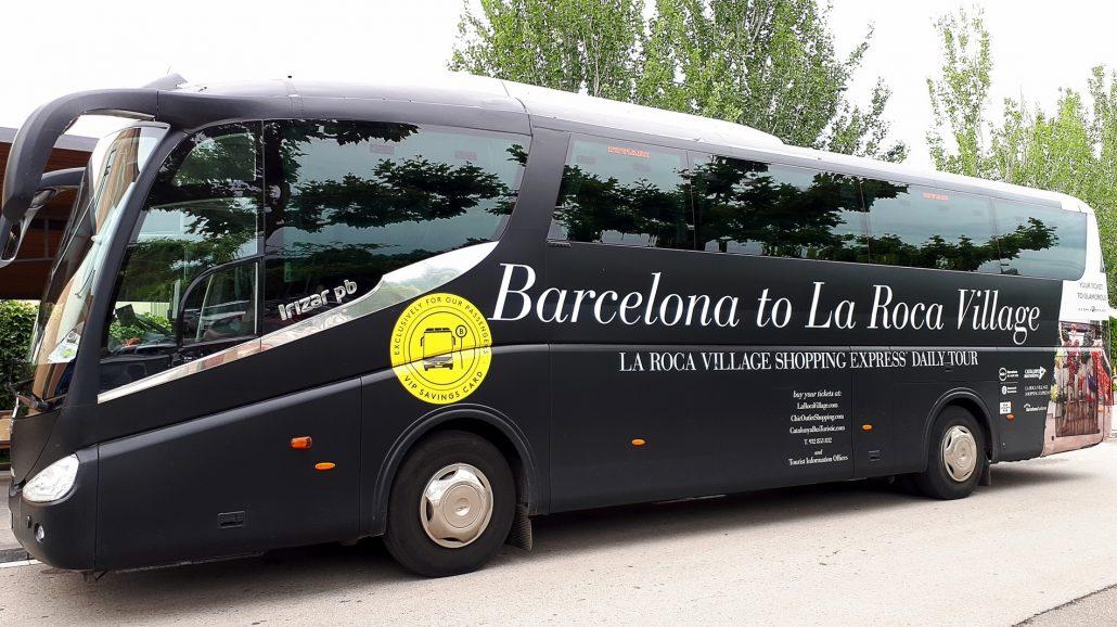voyage découverte barcelone - bus roca village - juliesliberties