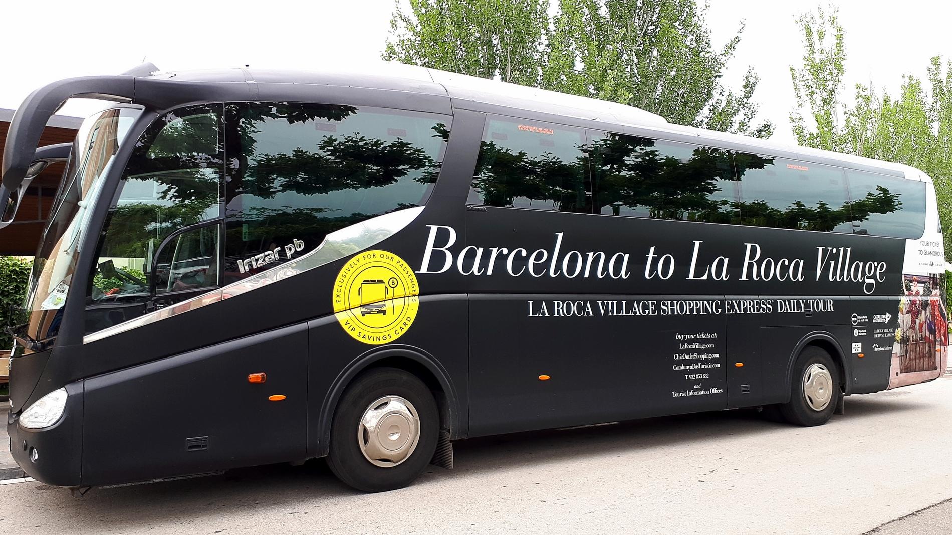 voyage découverte barcelone - bus roca village