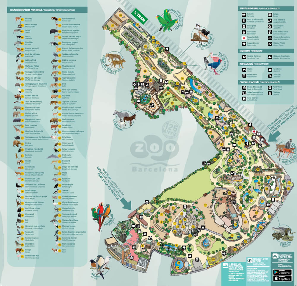 zoo barcelone plan - juliesliberties