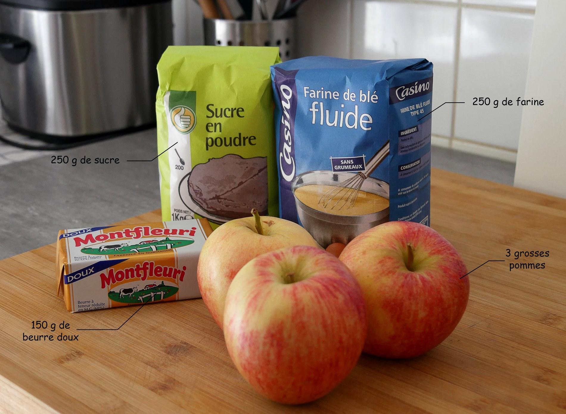 ingrédients crumble - juliesliberties