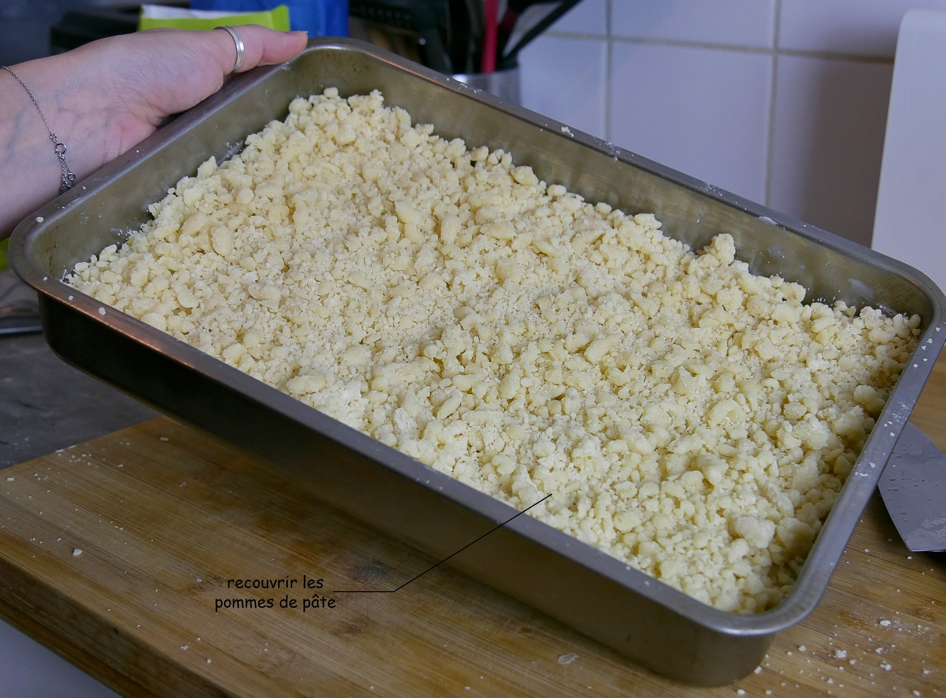 pâte sur pomme crumble - juliesliberties
