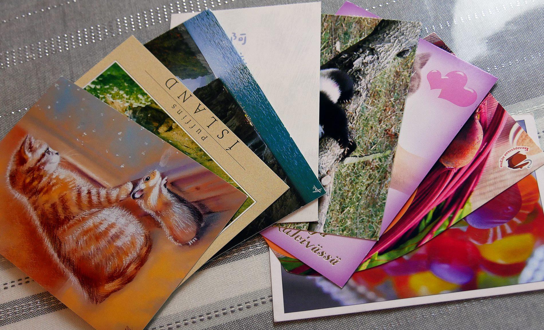 postcrossing cartes reçues - juliesliberties