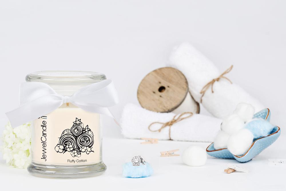 bougie fluffy cotton jewelcandle - juliesliberties