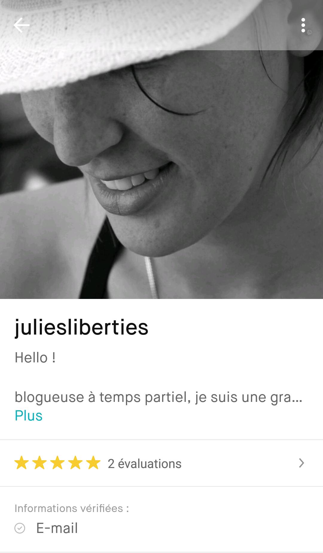 evaluation profil Vinted - juliesliberties