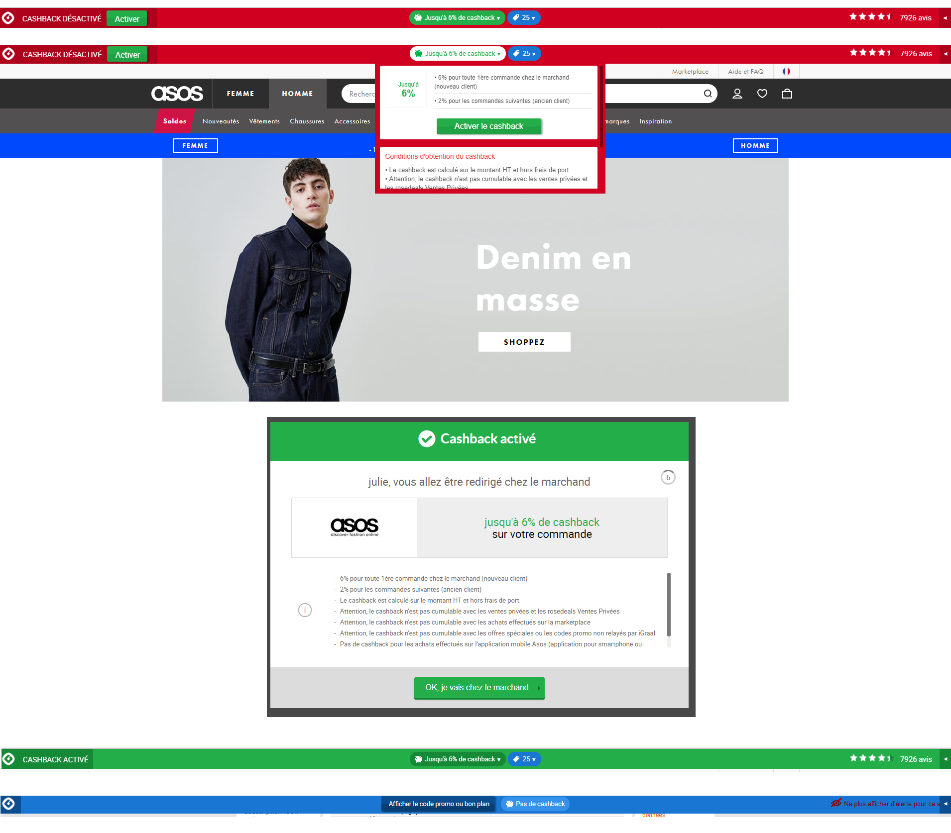 processus activation cashback iGraal - juliesliberties